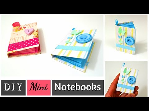 DIY MINI NOTEBOOKS - DIY Arts and Crafts / POCKET - SIZED PAPER NOTEBOOKS - Best out of waste