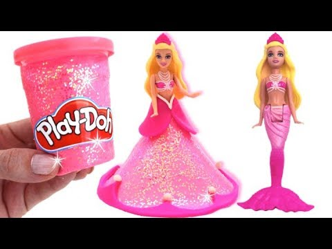 Mrs Rainbow Making Princess Dress with Play Doh