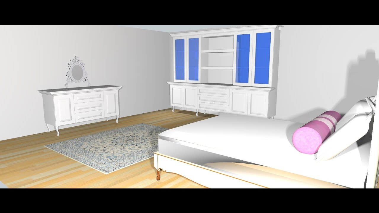 How To Design A Bedroom In Sketchup Tutorial Youtube