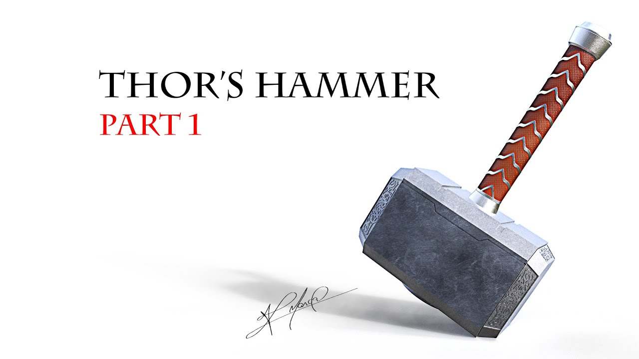 tutorial 3d thor hammer part 1 youtube