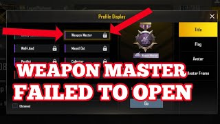 Weapon Master Is Not Working Completed All Mission