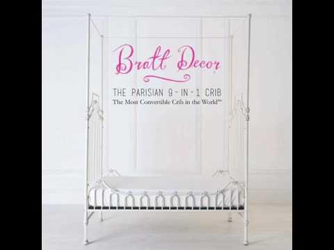 Bratt Decor's Parisian 9-in-1 Crib: The Most Convertible Crib in The World