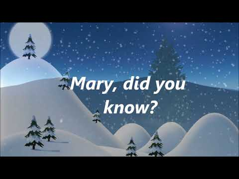 Danny Gokey - Mary Did You Know (Lyrics)