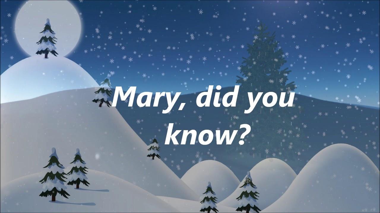 Danny Gokey - Mary Did You Know (Lyrics) - YouTube