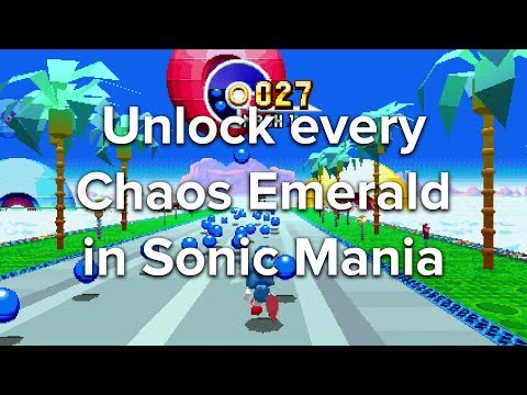 Sonic Mania special stages - How to get Chaos Emeralds and Gold