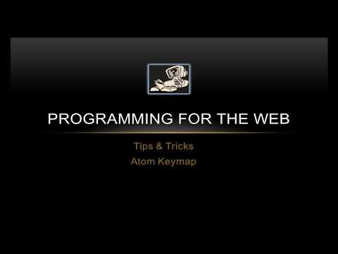 How To Add AutoIndent To Atom Keymap