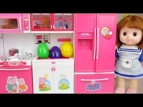 Kitchen and Baby doll food surprise eggs toys play