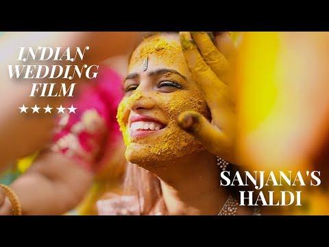Wedding video and cinematography | Indian wedding  Haldi Mehndi ceremony
