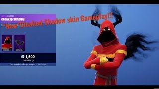 New Cloaked Shadow Skin Gameplay Fortnite Battle Royale