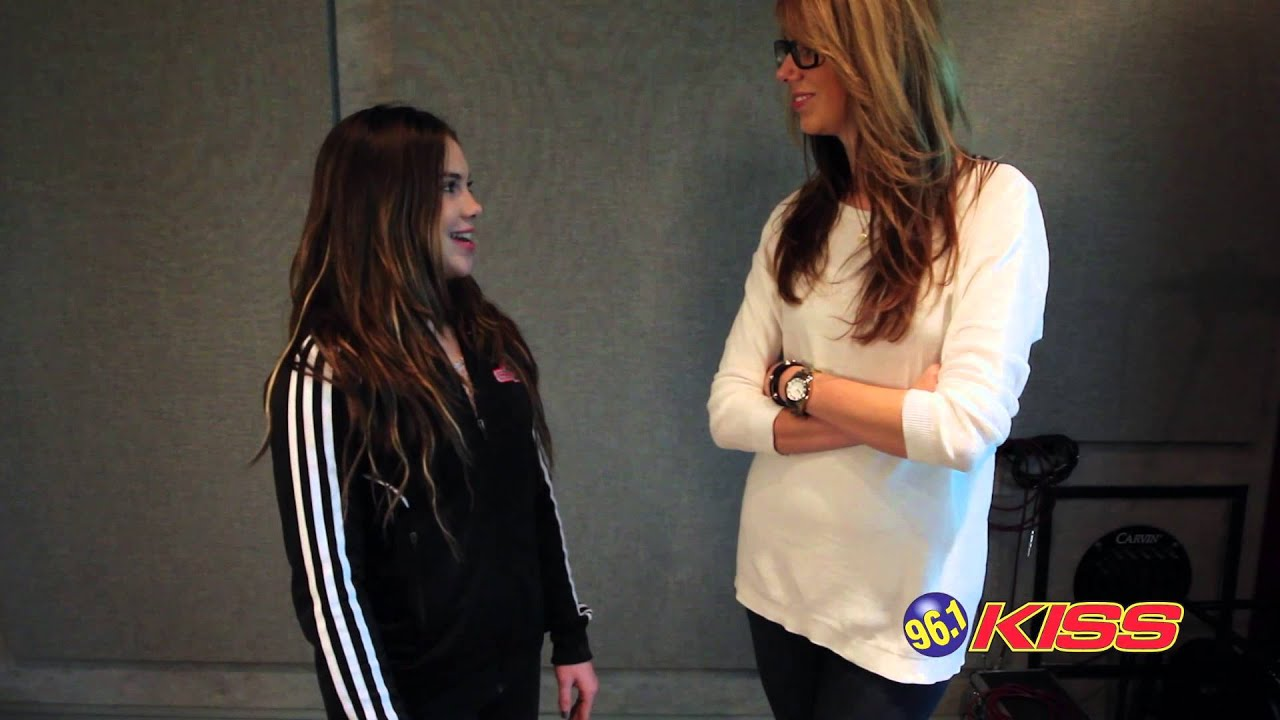 96 1 Kiss Mckayla Maroney And Tall Cathy Youtube