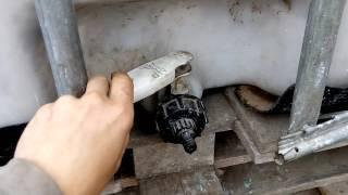 Резервуар для дощевой воды 1000 литров. Установка(, 2015-09-21T09:04:50.000Z)