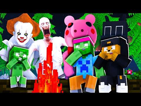 1 NUIT en FORÊT avec les MONSTRES PRÉHISTORIQUES Minecraft + DF35 Fondation détruite ! 💥😨