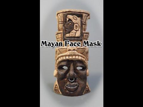 Mayan Face Mask Carving