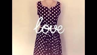 ReoRia 50s Classic Audrey Hepburn Style Polka Dot Black Housewife Dress Thumbnail
