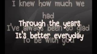Through The Years - KENNY ROGERS LYRICS