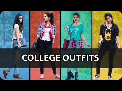 College Outfits for Girls 2017 | Dress Code | Back To School/ College Lookbook