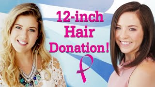 Cancer Survivor Donates 12 Inches of Hair to Pantene Beautiful Lengths!