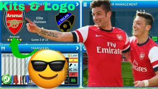 How to create Arsenal Team Kits & logo 2019 | Dream League Soccer 2019