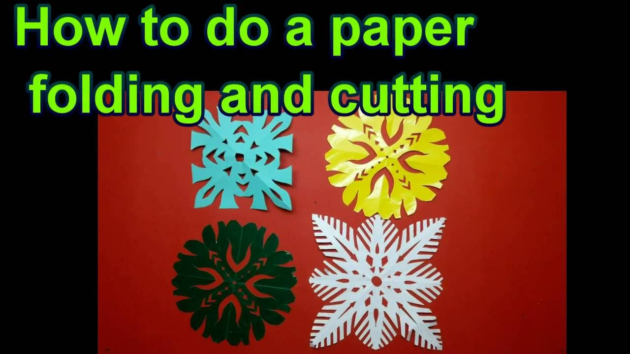 How to do a paper folding and cutting craft idea diy for Paper folding art projects