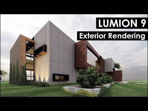 Lumion 9 Pro Exterior Rendering Tutorial (Casa Moderna)