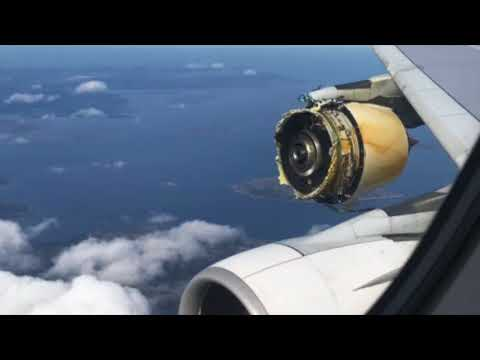 Air France Airbus A380 Catastrophic Engine Failure