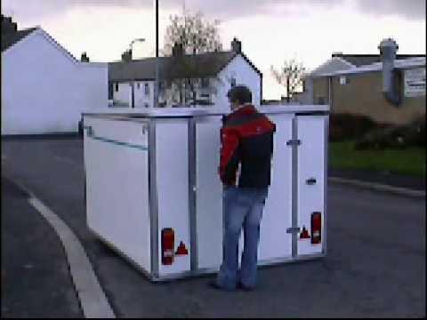 Ground Loading Motorcycle Box Trailer Youtube