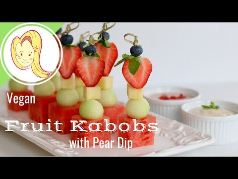 Fruit Kabobs with Pear Dip (Happy Valentine's Day)