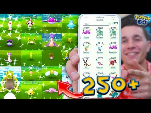 SHOWING MY FULL 250+ SHINY POKÉMON COLLECTION In Pokémon GO!