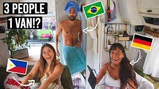 3 PEOPLE Living iฑ a VAN! | Van Life VLOG Netherlands (Classic HYMER Tiny Home)