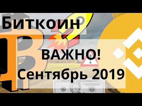 Биткоин ВАЖНО! Сентябрь 2019. Посмотрим на Акции Газпрома