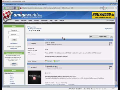 AmigaOS 4 1 FE emulated on a Windows 10 PC with WinUAE