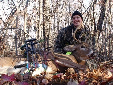 First Bow deer Husband and Wife score in Wisconsin on Archery hunt