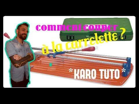 comment couper du carrelage avec une carrelette - YouTube