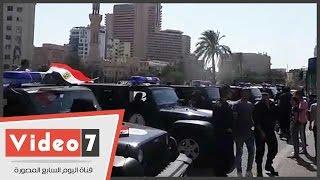 قوات الانتشار السريع تمشط التحرير لتأمين المحتفلين بافتتاح القناة