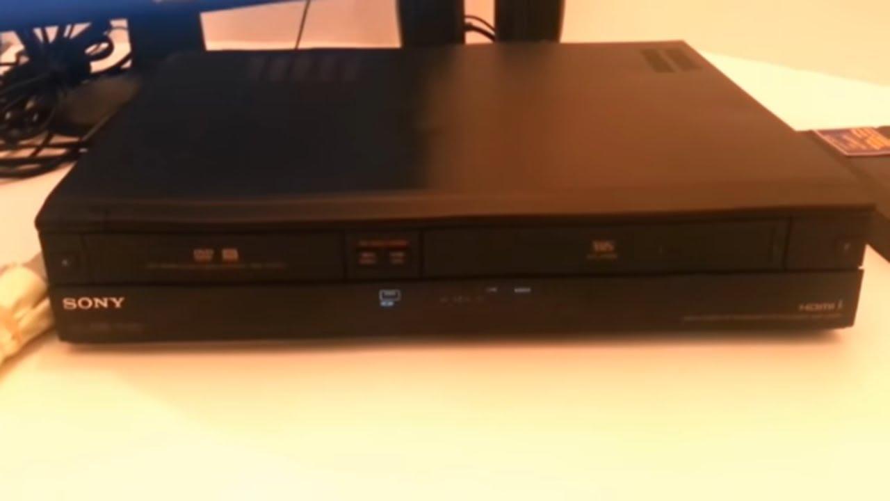 sony rdr vx560 dvd burner vhs vcr dual recorder dubbing tested rh youtube com Sony TV Service Manuals Sony TV Repair Manual