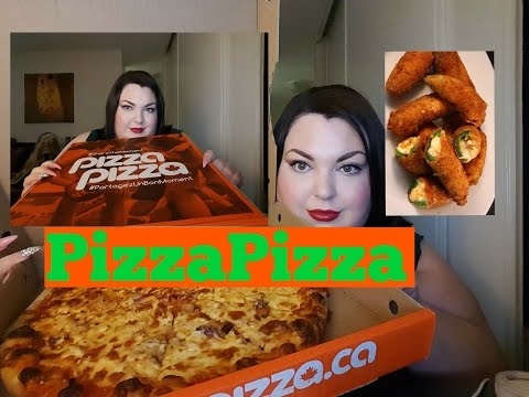 ANOTHER MUKBANG! PIZZA PIZZA-RINGS, JALAPENO POPPERS AND CHEESY PIZZA
