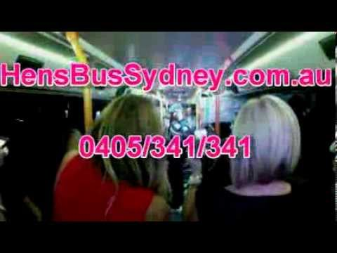 Hens Wild Party On Hens Bus Sydney - 50 Seater Pink Bus