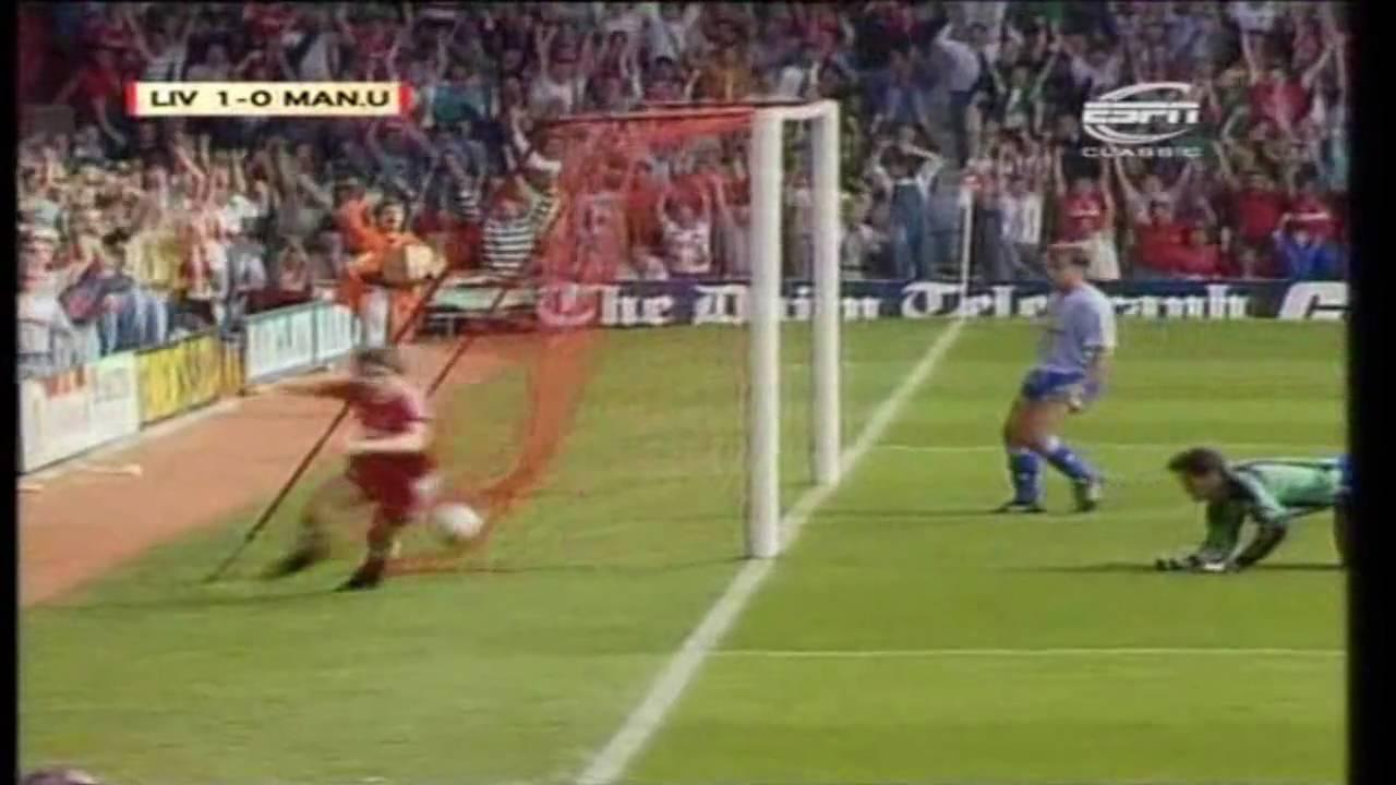 Liverpool 4 0 Manchester United 1990 91 Beardsley Hat Trick Youtube