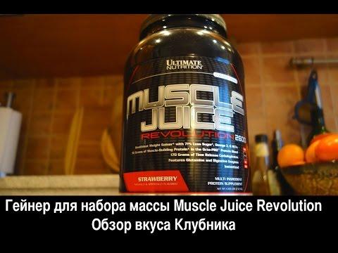 Гейнер для набора мышечной массы Muscle Juice Revolution. Обзор и отзыв
