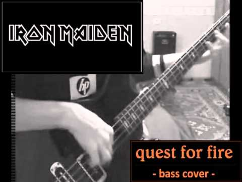 Iron Maiden - Quest For Fire _ bass cover