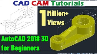 Gambar cover AutoCAD 2018 3D Tutorial for Beginners