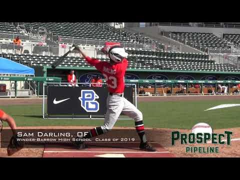 Sam Darling prospect video, OF, Winder Barrow High School Class of 2019