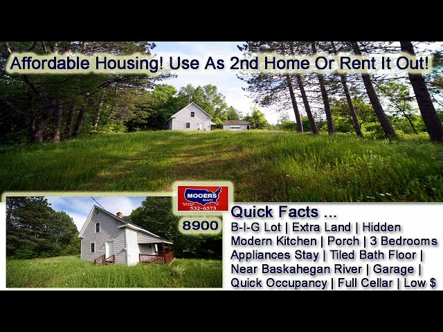 Maine Real Estate | Low Cost Vacation Home Depot ST Danforth ME  MOOERS REALTY #8900