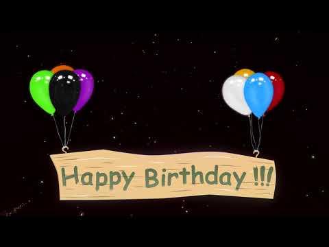 Happy Birthday - C днём рождения (Анимация)