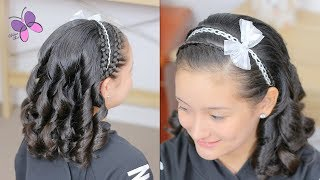 Elegant Hairstyle with Defined Curls | Hairstyle for Girls | Cute Girly Hairstyles