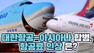 [로터뷰] 대한항공-아시아나 합병, 항공료 인상 걱정 …