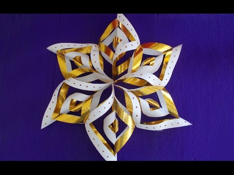 Winter Christmas Paper Crafts For Kids How To Make Snowflakes Easy