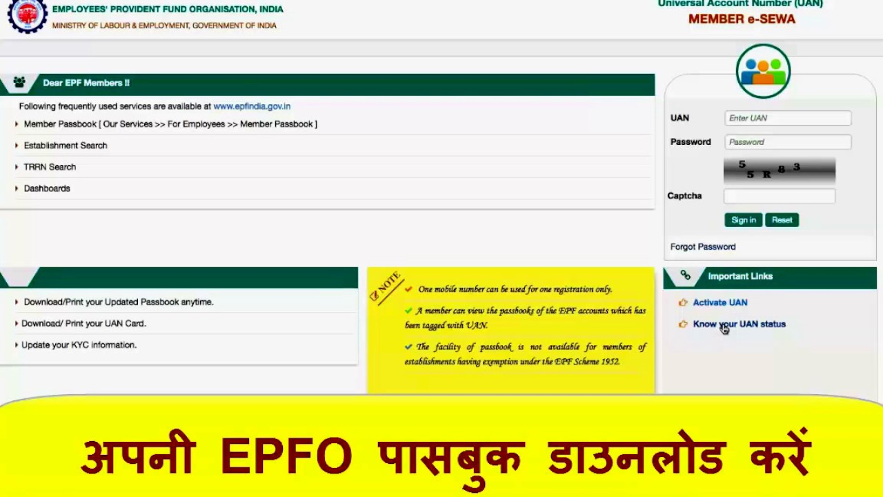 download member epf passbook
