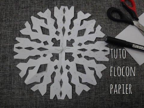 Fabriquer un flocon de neige en papier bricolage de n doovi - Flocon de neige en papier origami ...