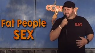 With an obese man Sex